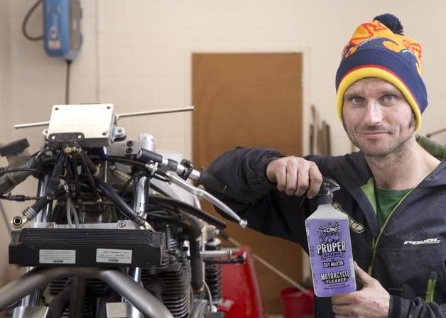Гай Мартин выпустил чистящее средство для мотоциклистов