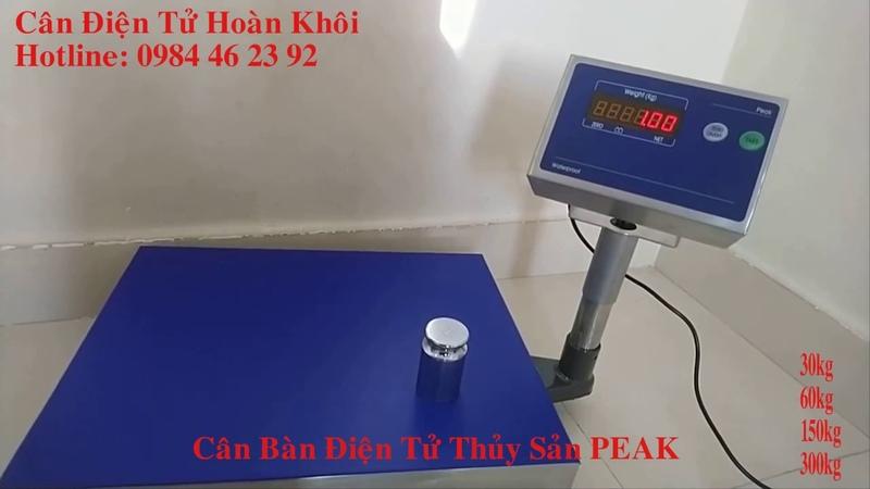 Cân Bàn Điện Tử Thủy Sản 30kg 60kg 150kg 300kg PAEK | Cân Hoàn Khôi
