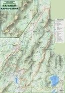 Дата: 07.08.2010 Теги: Добавил: Pasha74.  Карта Таганайского заповедника с маршрутами и обозначениями.