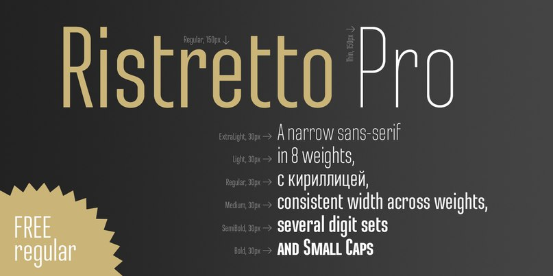 Download Ristretto Pro Regular font (typeface)