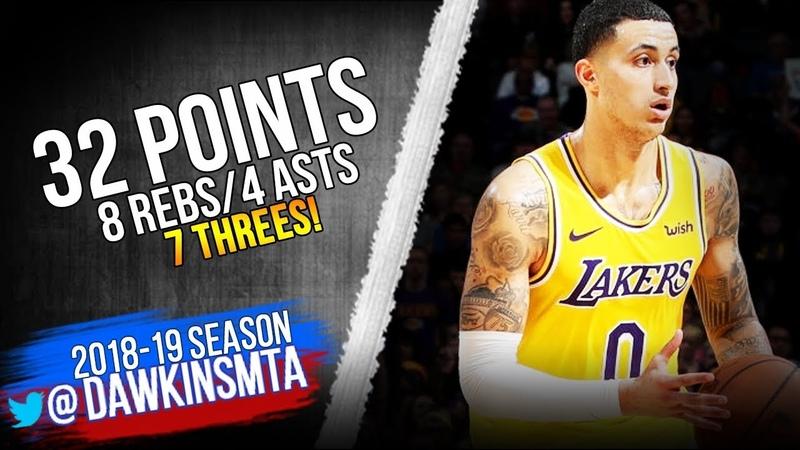 Kyle Kuzma Full Highlights 2019.01.17 Lakers vs Thunder - 32 Pts, 7 Threes, CLUTCH! | FreeDawkins
