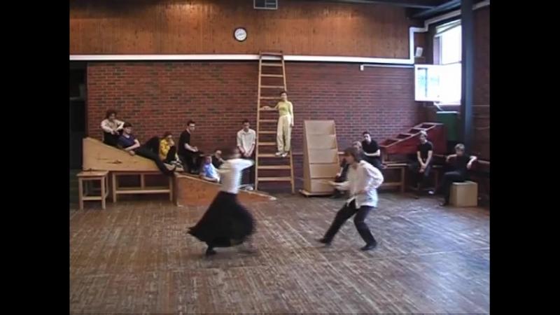 Сценическое фехтование: Полина Пушкарук и Алексей Шавлов (2013)