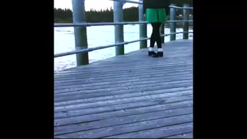 Irish dancer Siobhan McGoldrick on a chilly fall evening beside the Yukon River in Canada! 🎻Great tune by Kerry Fitzgerald - A