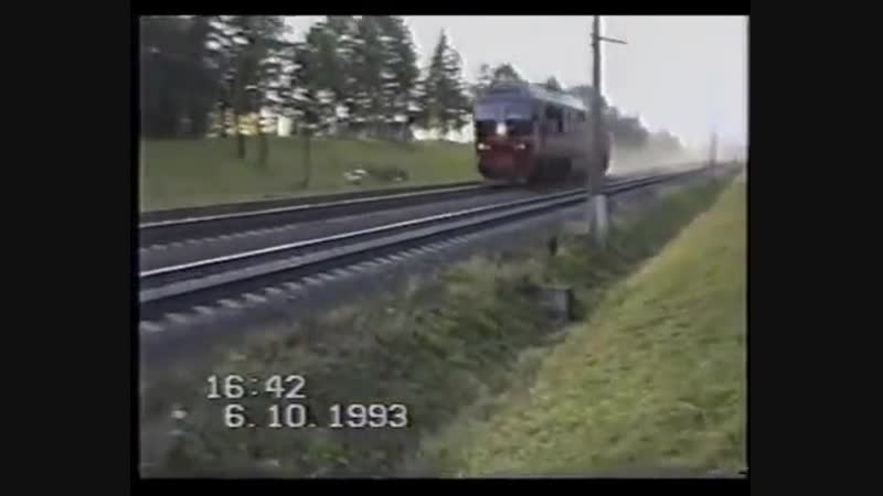 ТЭП80, вид со стороны, при скорости 253кмlч TEP80, view from the side, at a speed of 253km l h