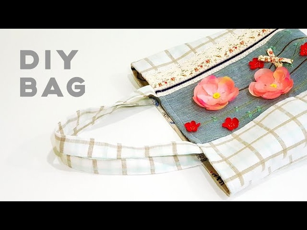How to make a unique tote bag With flowers | 自己也能制作独一无二的创意手作包!❤❤