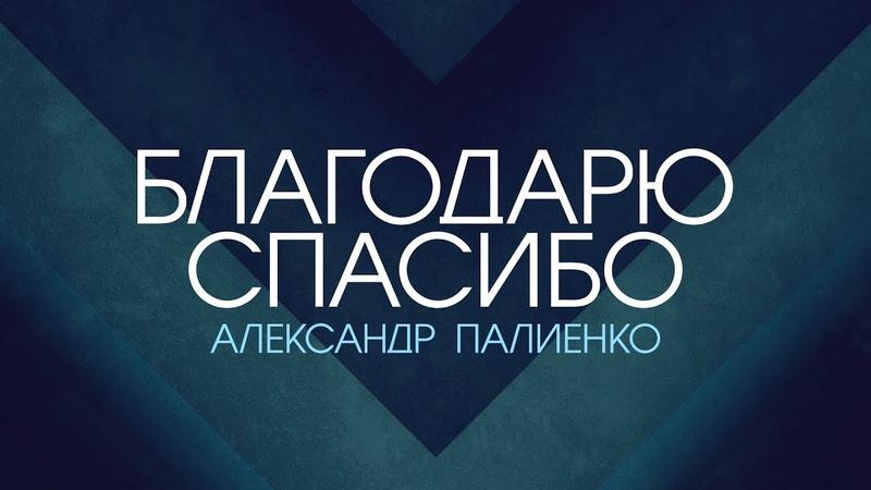Благодарю Спасибо Александр Палиенко