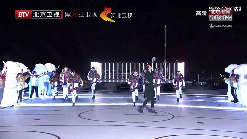 Dimash Димаш - BTV New Year Global Gala Neverland 北京卫视《2019环球跨年冰雪盛典》迪玛希献唱热闹26