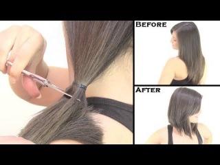 Можно ли подстригать волосы самой себе