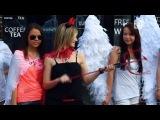 В Караганде прошел флешмоб «Ангелы и демоны» от ночного клуба «Рай»