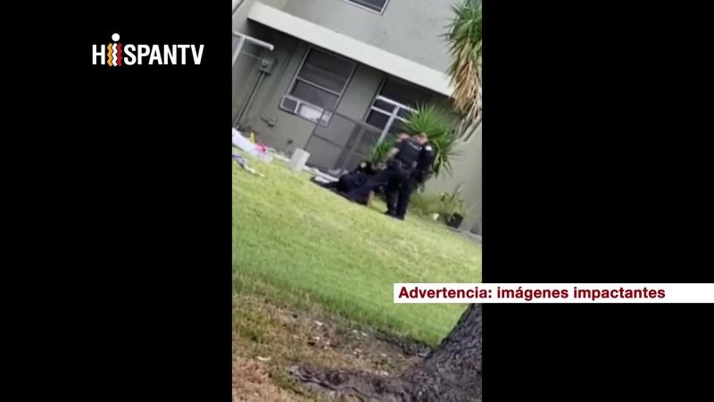 Policía de Miami sacado de servicio por patear en la cabeza a un hombre esposado