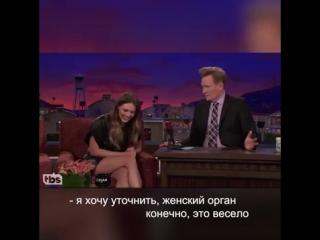 Актриса Элизабет Олсен, известная по роли Алой Ведьмы в Мстителях, матерится по-русски во время интервью.