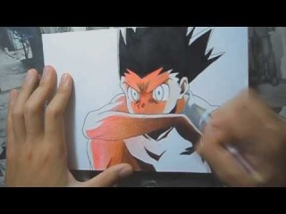 Drawing- Gon Freecs from HunterxHunter