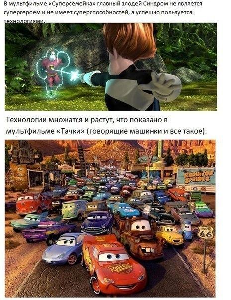 Вселенная студии Pixar: связь мультфильмов
