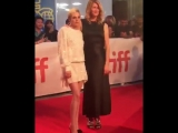This double dose of talent is the perfect way to close out #TIFF18. Laura Dern + Kristen Stewart looked