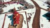 Нижний Енангск взгляд с высоты.