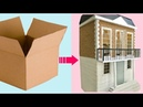 4 AMAZING DOLLHOUSES made with recycled cardboard