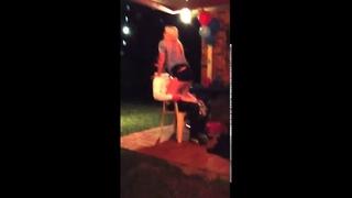 Stripper Lap Dance Breaks Plastic Chair