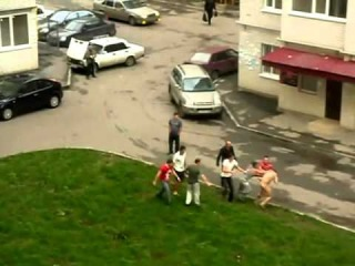 Crazy Naked Russian Guy on Drugs Sped Up to Benny Hill Theme LOL!!!!!!