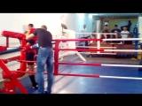Чемпионат по тайскому боксу. г. Тутаев 14.10.2018. Афонина Алина (красный угол)