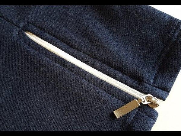 DIY How to sew Zipper in the trouser leg Jak wszyć ekspres do nogawki spodni