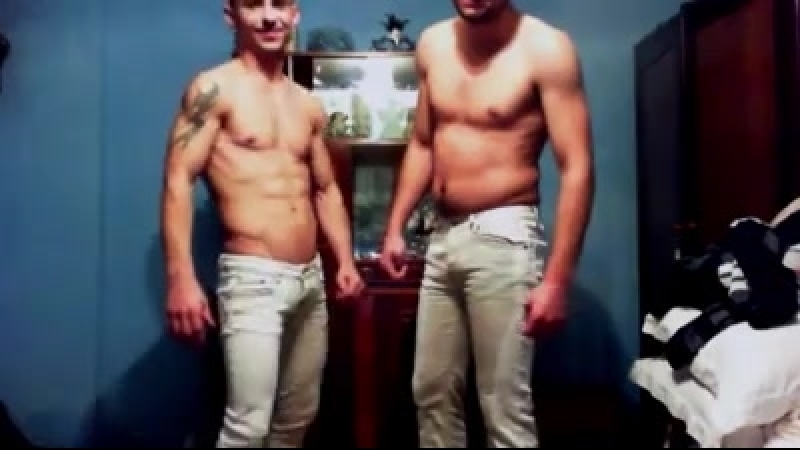 Two very cute guys pee in their pants on cam again two loRes