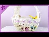 DIY Twine Easter basket (ENG Subtitles) - Speed up #82