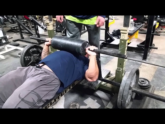 Cambered bar bench press