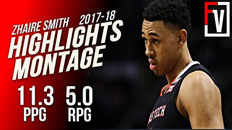 Zhaire Smith Texas Tech Freshmen Highlights Montage 2017-18 | 11.3 PPG, Talented 2-Way Wing!