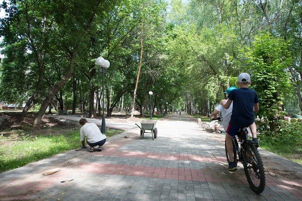 В Нижнекамске на улице Спортивной начали строить новый парк