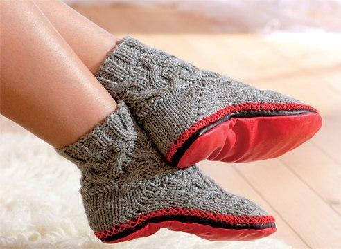 Как связать носки с подошвой: