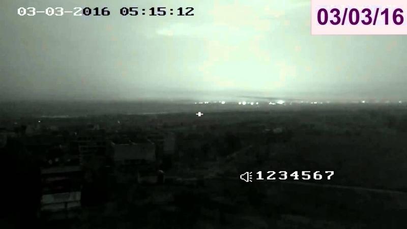 Обстрел Красногоровки из РСЗО Град 3 марта 2016г