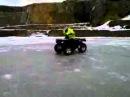 Дрифт на квадроцикле по льду \ Drift ice on a quad