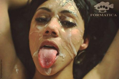 порно фото все лицо в сперме