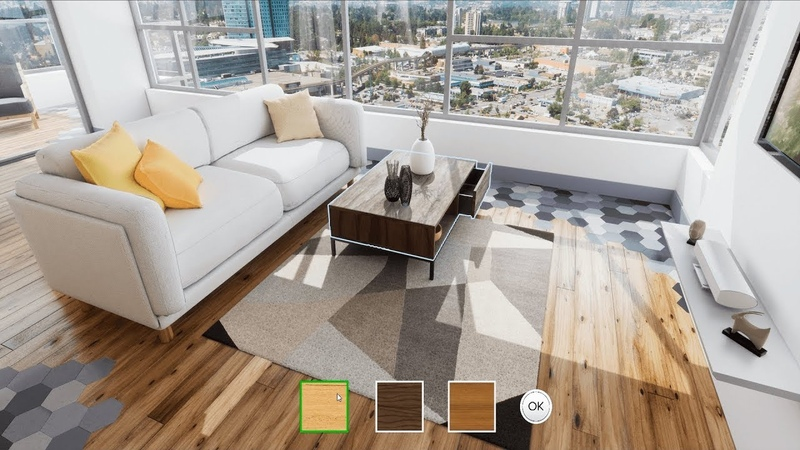 Real time 3D Interactive Architectural Visualization with CUSTOMIZATION