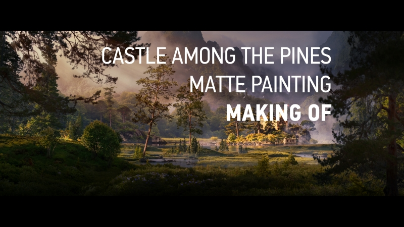 Making of Castle among the pines