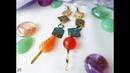 Серьги с агатом и сердоликом Asymmetrical earrings with agate made by Poludnitsa workshop