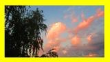Облака на закате солнца