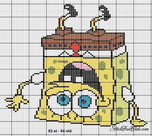 Пиксель Арт №6 спанч боб)