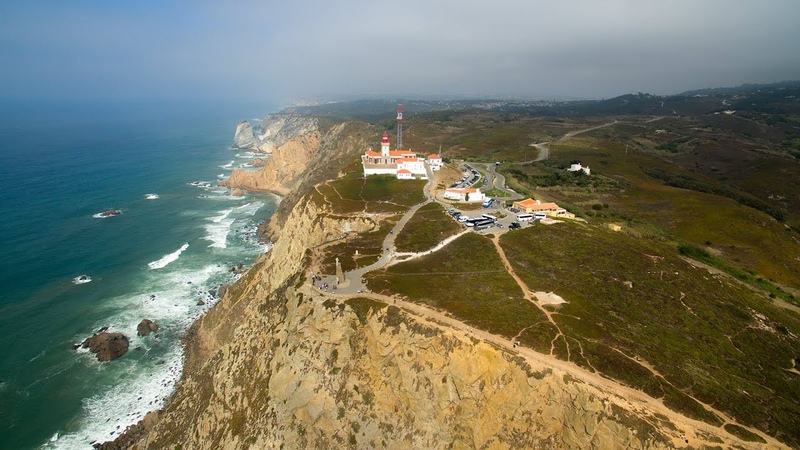 Cabo da Roca aerial view - Westernmost extent of continental Europe - 4K Ultra HD