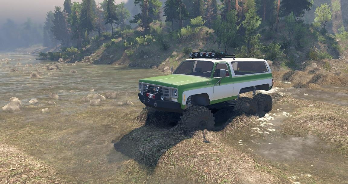 1975 Chevy K5 Blazer Equipped 6x6 1.0 для Spintires - Скриншот 1