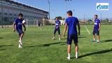 Предыгровая тренировка ФК Оренбург перед матчем против ФК Анжи