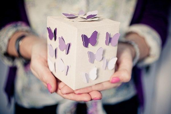 Коробочка с бабочками. Идея для вдохновения…. (6 фото)