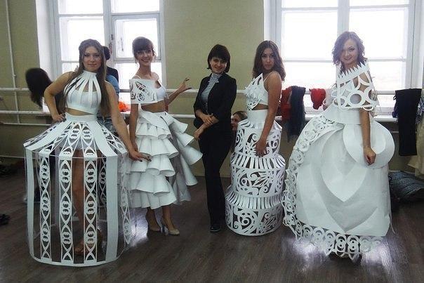 Платья из простой бумаги
