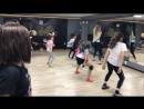 Jangle-танцевальная группа. Одна из первых тренировок в новой студии!