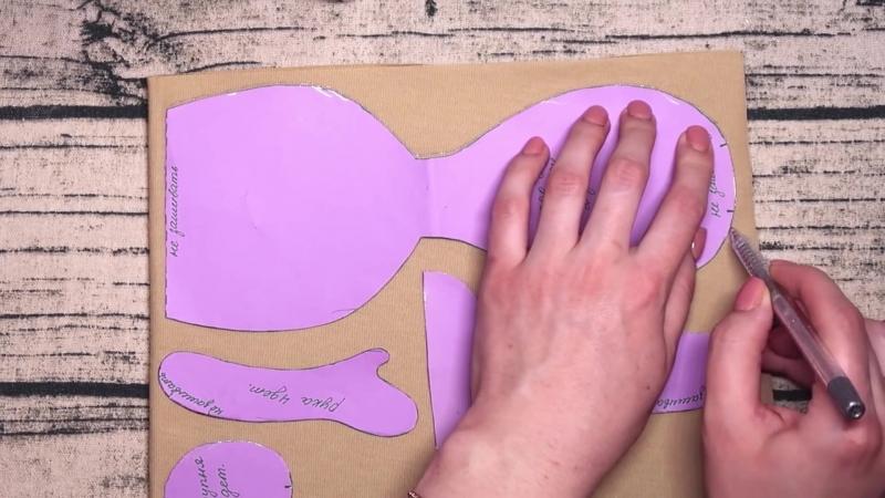 DIY Интерьерная кукла из ткани своими руками Рыжеволоска