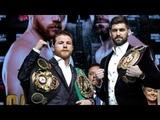 Saul 'Canelo' Alvarez and Rocky Fielding el pesaje