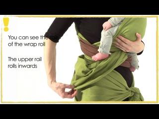 Трикотажный слинг-шарф - намотка