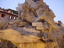 Bernini, Fontana dei Quattro Fiumi in piazza Navona Roma Video H D