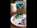 Арахисовый раф и торт с брусникой и розмарином