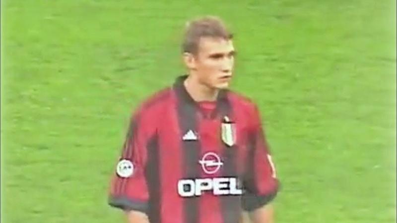 Andriy Shevchenko Debut for Milan vs Parma Supercoppa 21 08 1999